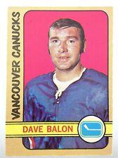 1972-73 Dave Balon Vancouver Canucks 162 OPC O-Pee-Chee Hockey Card P290