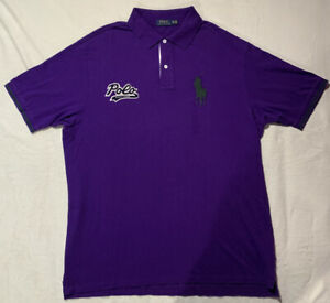 Polo by Ralph Lauren Short Sleeve Big Pony Navy PURPLE POLO Shirt 2XLT