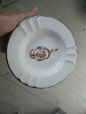Vintage Indian Head Personal Ashtray Trinket Dish  set of 4 ceramic gold trim