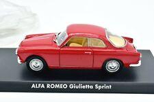 ALFA ROMEO GIULIETTA 1/43 AUTO MODELLINI EPOCA SOLIDO DA COLLEZIONE MODELLISMO