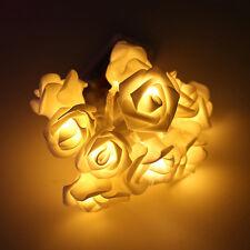 10 LED Rose Flower Bloom Battery String Lights Lamp Wedding Garden Party Decor