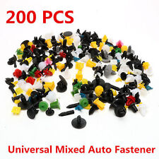 200x Auto Car Various Plastic Rivet Fasteners Push Pin Bumper Fender Panel Clips