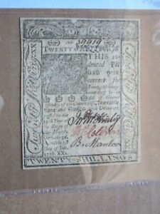Colonial Currency Delaware Jan 1 1776 20s PMG 45 EPQ Fr # DE-80