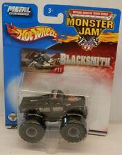 Hot Wheels Monster Jam Blacksmith Willys Truck MOC c.2002 w/Metal Base 1:64