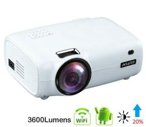 WZATCO Smart Portable LED Projector Full HD 1080P Home Theater WIFI Android 10.0
