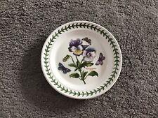 "More details for 7"" portmeirion botanic garden tea plate viola hybrida pansy"