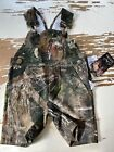Bass Pro Shops Real Tree Baby Infant Short Overall Bibs Camouflage S 3-6 months