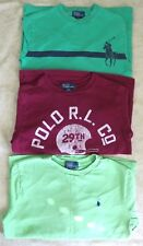 Polo Ralph Lauren Boy's Cotton Long Sleeve T - Shirt x 3 Sets Sz S~ Sz 8