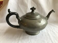 Antique James Dixon & Sons Tea Pot Best Britannia Metal Wood Handle