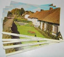 Lot x 9 1970s Irish Post Cards Thatched Cottage Adare Limerick Ireland Old Stock