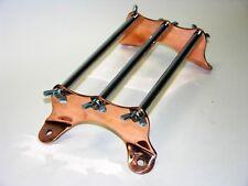 Universal Fit Mini Luggage Rack, Copper End Plates & wingnuts, Vintage, Bobber
