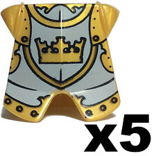 NEW LEGO - Figure Body Wear - Castle - Armor Gold Knight Breastplate x 5 - 7079