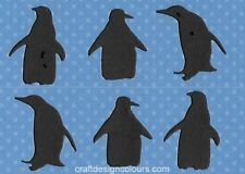 DIE CUT -12 X BLACK PENGUINS