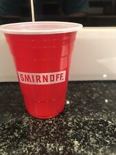 25x Smirnoff Plastic Cups Pub Shed Bar Man Cave