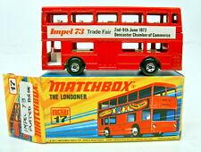 "Matchbox SF Nr.17B The Londoner rot ""Impel '73"" rares Werbemodell top in Box"
