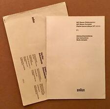 Braun Atelier P1 Anleitung BDA original multi language Deutsch, E., F. guter Z.