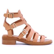 SIREN Tara Tan Leather Upper Gladiator Sandal Flats |SIZE 7| BRAND NEW/UNWORN