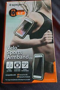 "BLACK Spigen Velo A700 Sports Armband Holder for Smartphones Up to 6.0 ""  New"