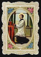 antico santino cromo-holy card-S.LUIGI GONZAGA