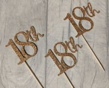 18th rose gold glitter cupcake toppers 16 21 18 30 40 50 60 70 80 90 birthday