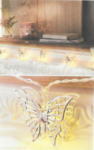BATTERY OPERATED STRING LIGHT WITH 10 SHINY BUTTERFLIES.NEEDS 3 X AA