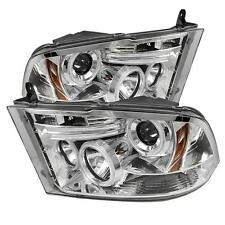 Pair CCFL Halo Projector Head Lights Dodge Ram 1500-5500 2009-2012 ST SLT Chrome