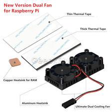 Retroflag Nespi Cooling Fan Kit Dual Fans + Heatsinks For Raspberry Pi 3/2