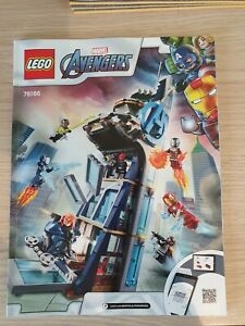 Lego Avengers Tower Battle Instructions only 76166 Free Postage City Town
