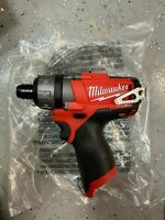 "MILWAUKEE 2402-20 M12 FUEL™ 12V 1/4"" 2-Speed Hex Screwdriver (Bare Tool) - NEW"