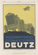 Deutz Flugmotoren Zugmaschinen Landmaschinen Hersteller Motor Original 358