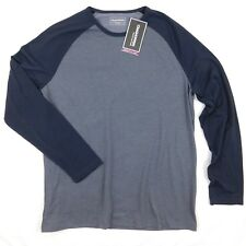 Craghoppers Mens Loki Ombre Blue Marled Long Sleeve Raglan Thermal Shirt 2XL XXL
