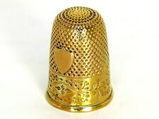 More details for 18ct 18k 750 antique solid gold thimble in original case - circa 1820-1839