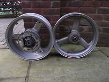 TRIUMPH TT600 600 REAR WHEEL RIM INC SPROCKET CARRIER AND FRONT WHEEL RIM