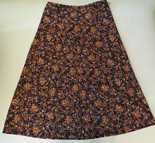C.J. Banks Womens Multicolor Purple Full Floral Long Stretch Skirt Plus  1X