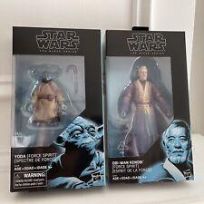 Star Wars Black Series Force Spirit Yoda & Obi-Wan Kenobi 6? New W Figure Shield