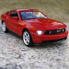 Ford Mustang GT 2012 Alloy Diecast Car Model 1:32 Muscle Cars Sound & Light Red