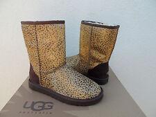 UGG CLASSIC LEOPARD METALLIC CALF HAIR SHEEPSKIN BOOTS, US 7/ EUR 38 ~ NIB