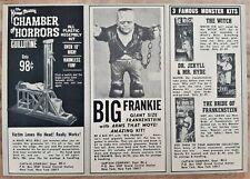 VINTAGE 1966 AURORA GUILLOTINE BIG FRANKIE DR JEKYLL WITCH MONSTER ADVERTISEMENT