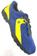 Ecco Blue Suede w/ Yellow Leather Men's Low Top Shoes US 9 EURO 39 GUC UNIQUE!