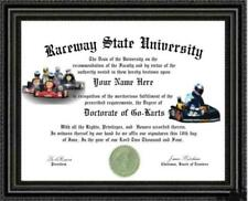 Go Cart Lover's Doctorate Diploma / Degree Custom made & Designed for you UNIQUE