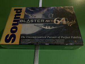 New And Sealed Creative SB4390 Sound Blaster Awe64 Gold ISA Vintage DOS 3.1 95