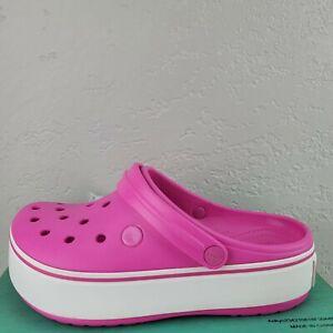 Crocs Crocband Platform Clog Pink White Women's Size 8