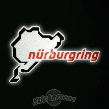 adesivo NURBURGRING  logo - RIFLETTENTE PVC moto auto stickers Reflective casco