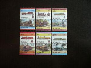 Stamps - St. Vincent - Scott# 833-838