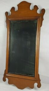 Antique Carved Wooden Chippendale Mirror