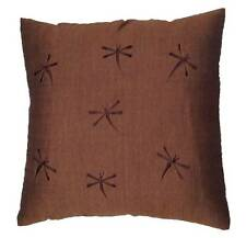 Balinese Bali Cushion Cover - brown with dragonfly's dragonflies cotton new