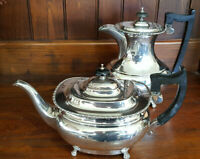 Good Vintage EPNS Sheffield Made Claw Footed Teapot and Coffee/Hot Water Pot