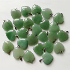 1pcs/lot heart Aventurine Silver Beads Pendants DIY Wholesale Hot Handmade