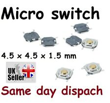 20 x Mini Micro Momentary switch push  4.5 x 4.5 x 1.5 mm UK stock freepost