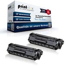 2x Laser Tonerkartusche für HP LaserJet 1018 1020 M1319 Q2612AD Schwarz